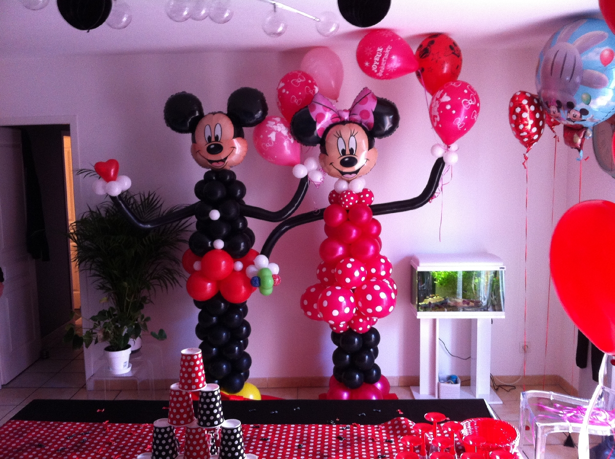D co ballon service tout pour le ballon d coration animation communication - Decoration mickey anniversaire ...